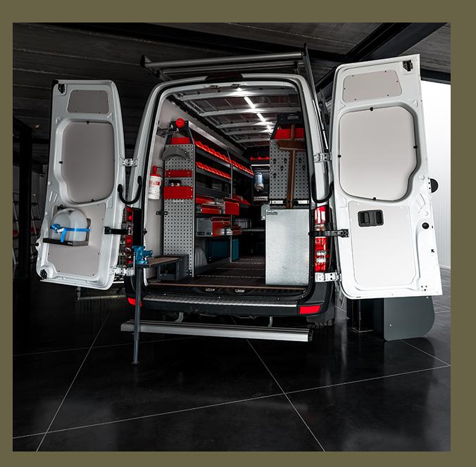 MobiRack staat in voor bedrijfswageninrichting. DepoRack is uw partner voor legbordstellingen.